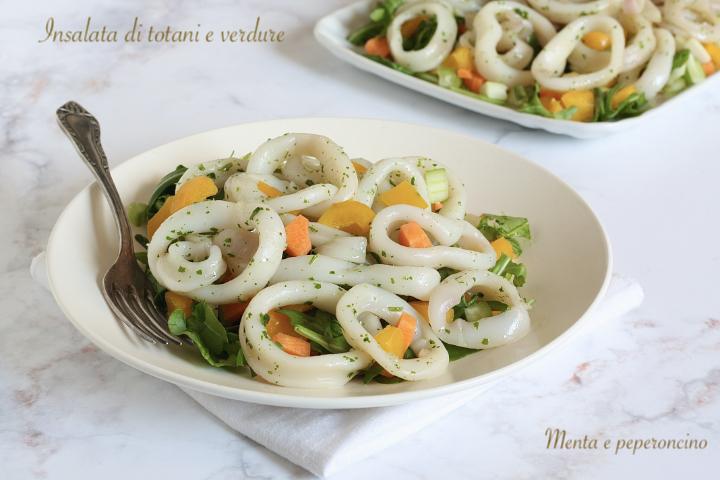Insalata di totani e verdure