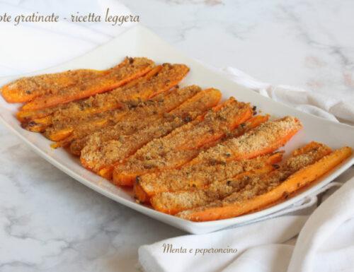 Carote gratinate – ricetta leggera
