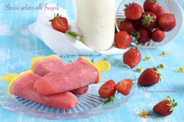Stecco gelato alle fragole