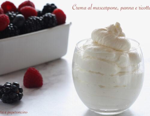Crema al mascarpone, panna e ricotta