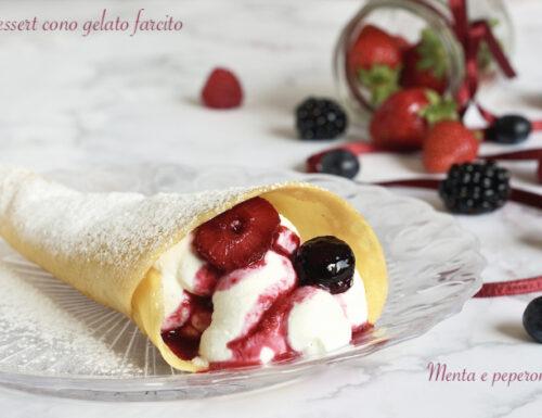 Dessert cono gelato farcito
