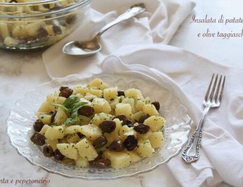Insalata di patate rosse e olive taggiasche