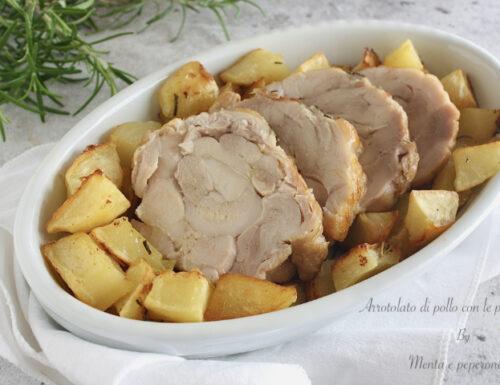 Arrotolato di pollo con le patate
