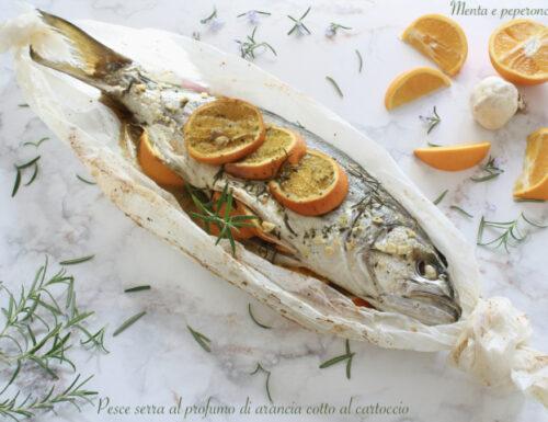 Pesce serra al profumo di arancia cotto al cartoccio