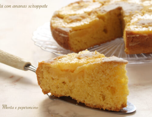 Torta con ananas sciroppate