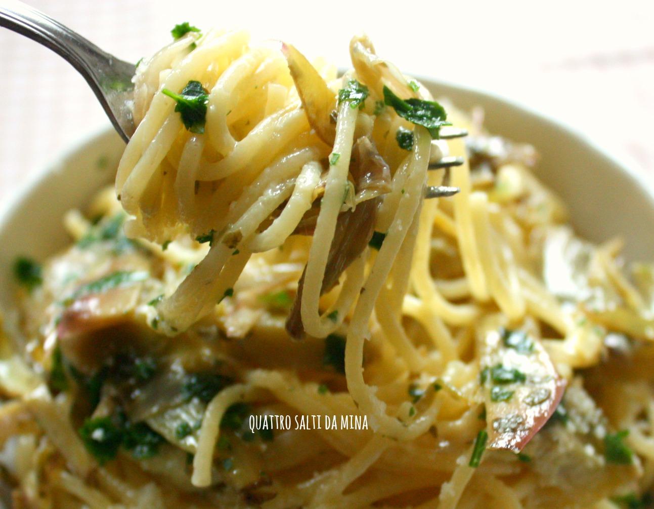 Spaghetti alla carciofara