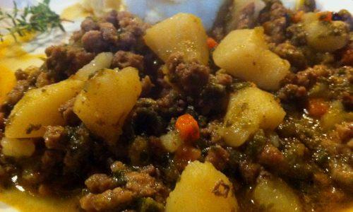 Tapelucco con patate e verza