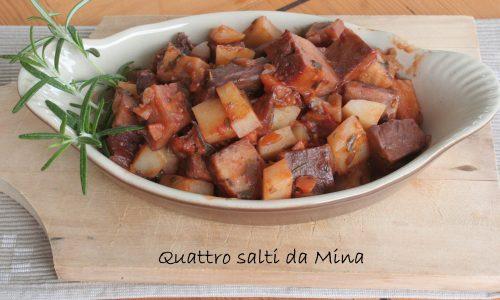 Spezzatini di seitan con patate