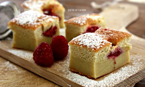 Torta magica ai lamponi