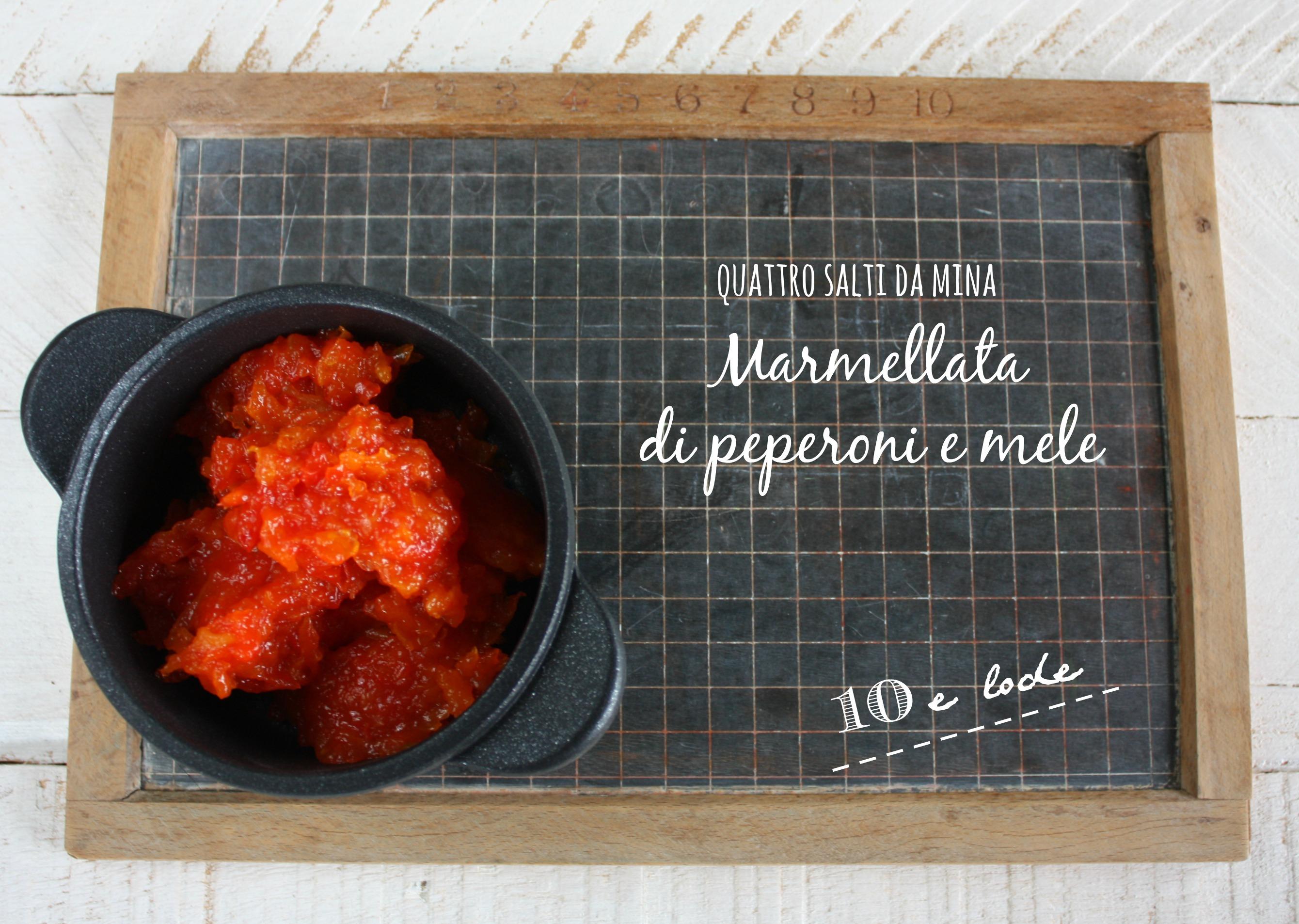 Marmellata di peperoni e mele