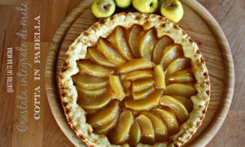 Crostata di mele cotta in padella