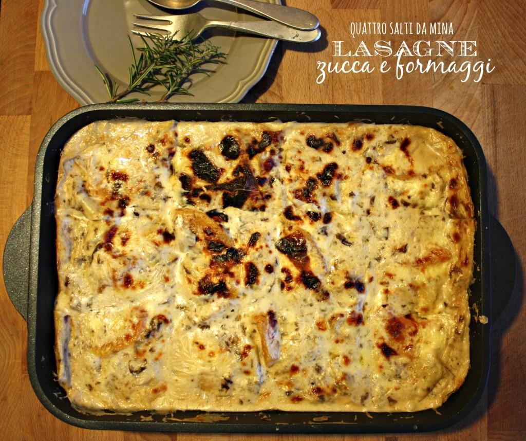 lasagne zucca e formaggi