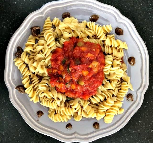 pasta con ragù di verdure