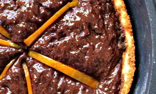 Crostata di zucca e cacao cotta in padella