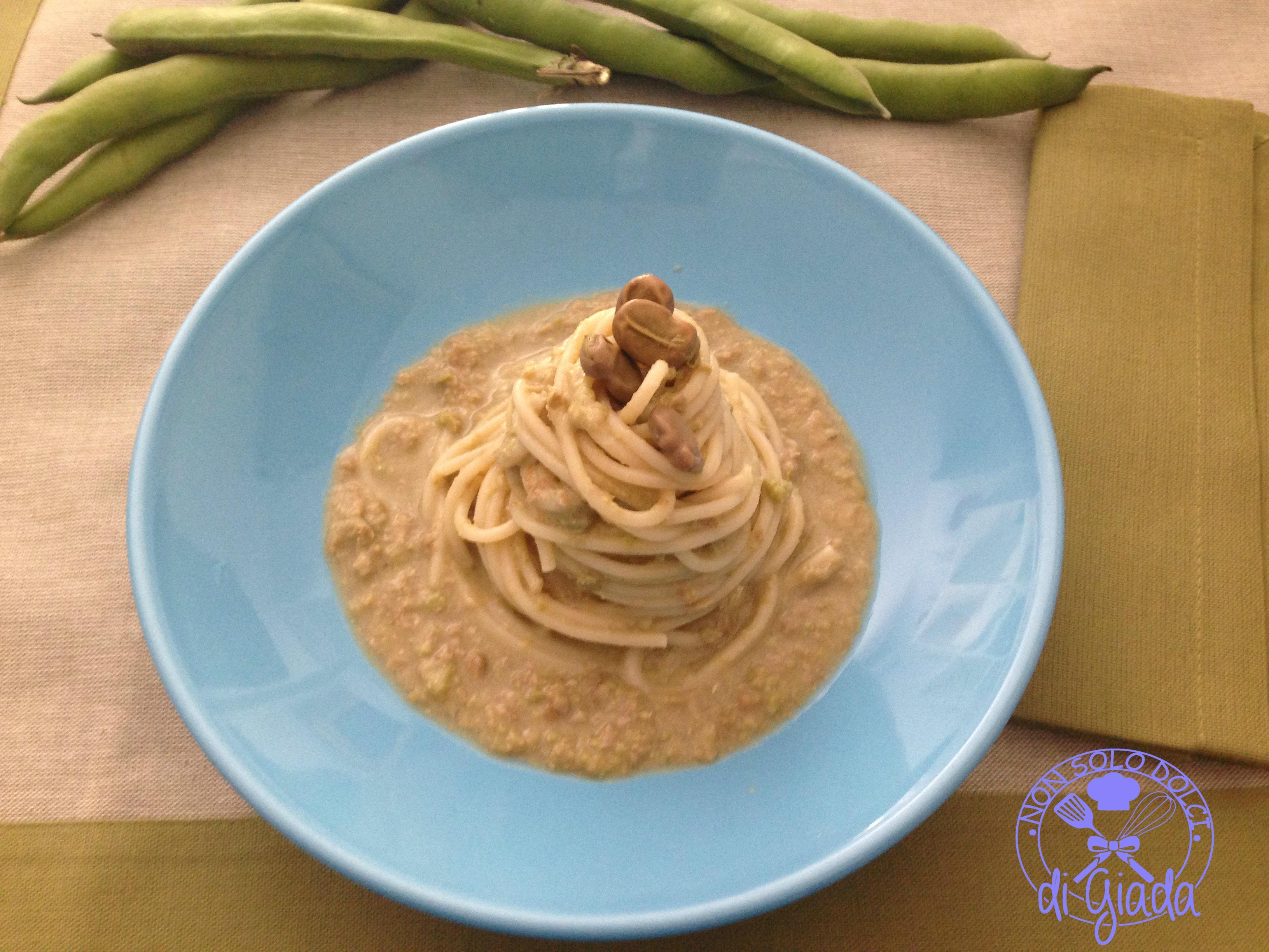 spaghetti fave 3