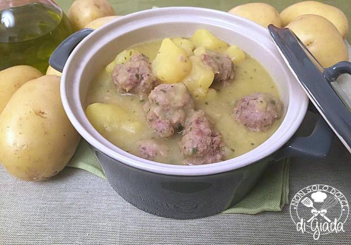 polpette di carne con patate