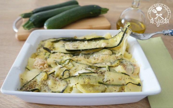Zucchine e patate filanti