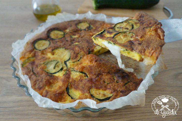 Frittata di zucchine e mozzarella
