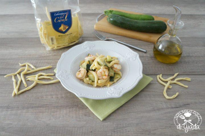 maccheroni gamberoni e zucchine2