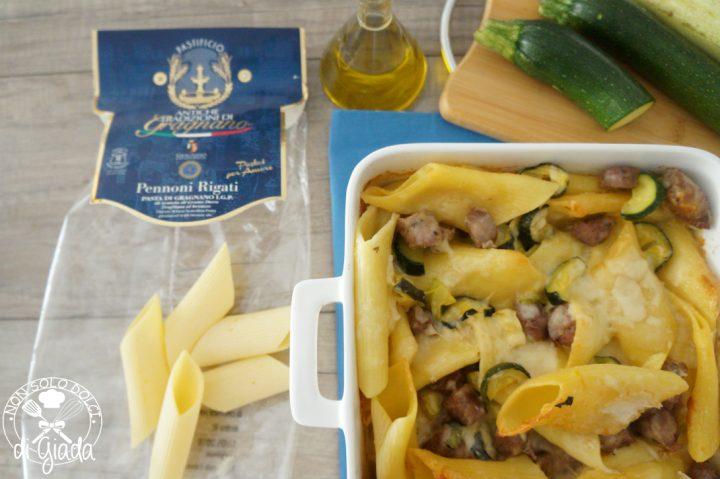 Pennoni zucchine e salsiccia3
