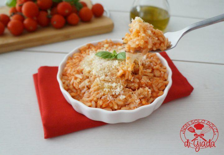 Risotto al pomodoro con mozzarella filante1