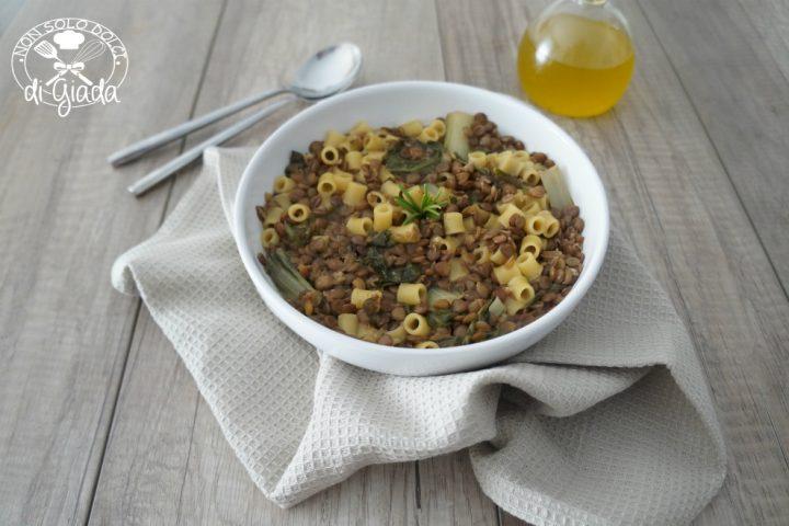 Minestra lenticchie e bieta