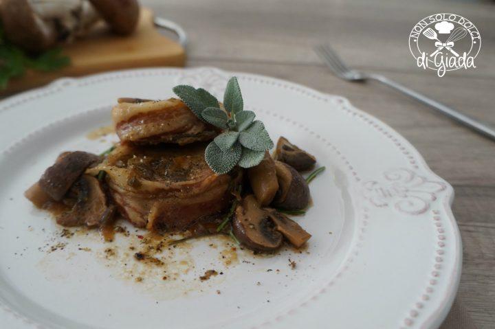 Filetto con funghi al profumo di tartufo.