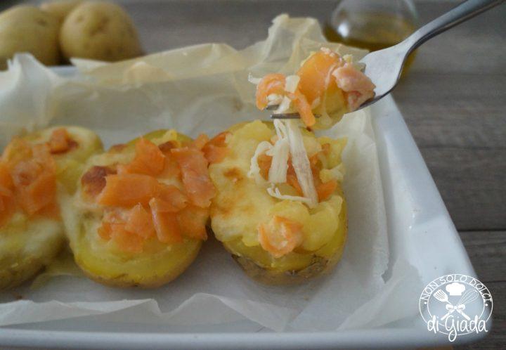 Barchette di patate con salmone