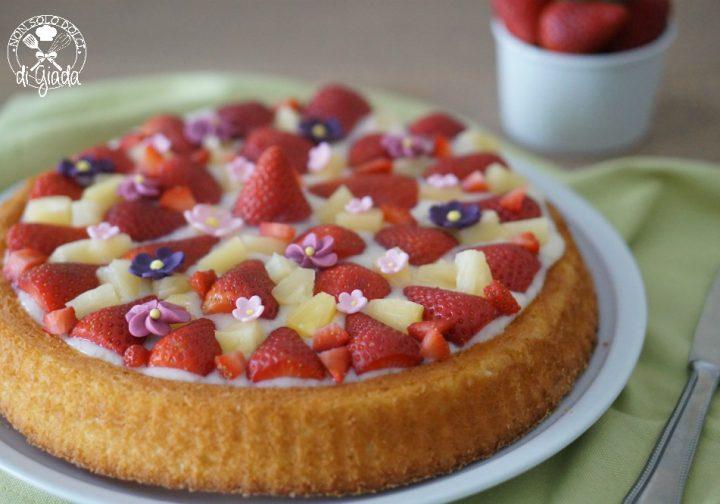 Crostata Morbida Con Fragole Ed Ananas Non Solo Dolci Di Giada