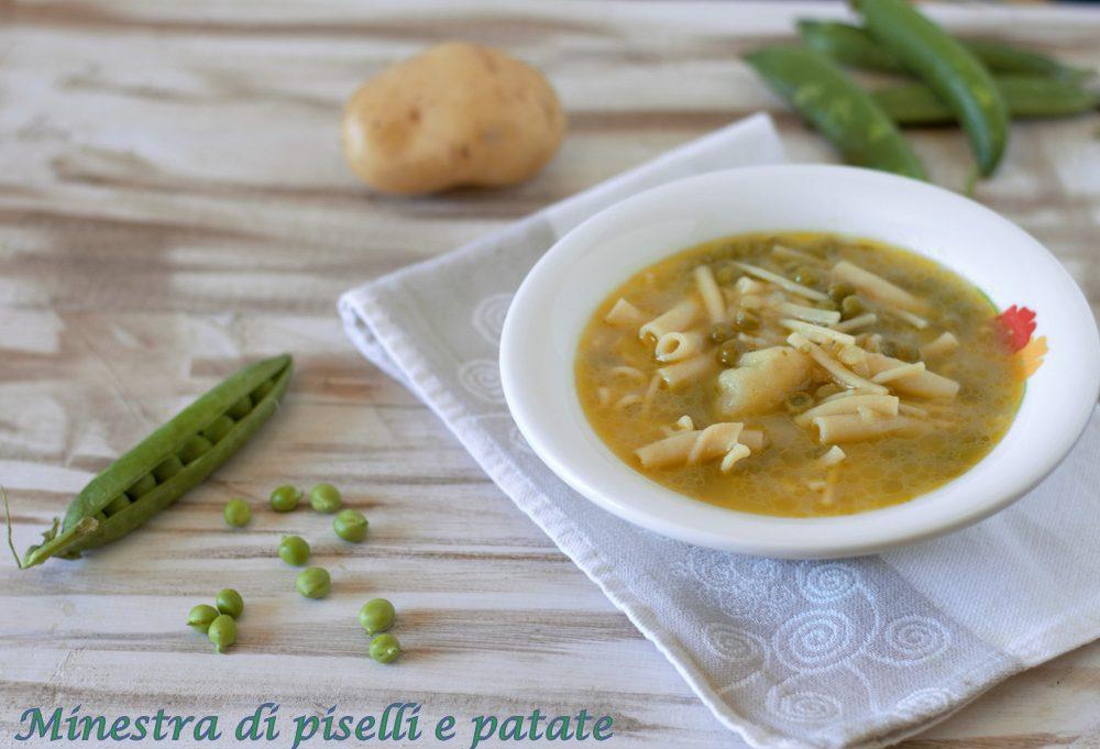 minestra di piselli e patate