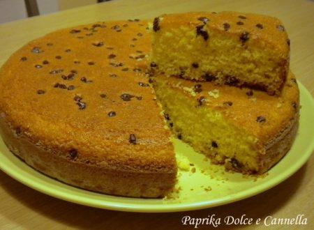 Torta con polenta e gocce di cioccolato (con e senza glutine)