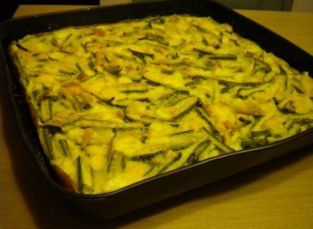 Teglia di zucchine al gratin