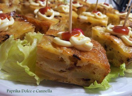 Tocchetti di Tortilla (Frittata di Patate e Cipolle)