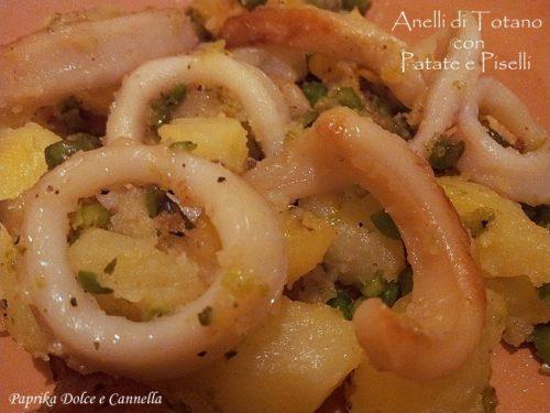 Anelli di Totano con Patate e Piselli