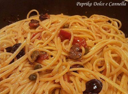 Linguine Olive e Capperi al Graten