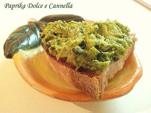 Bruschetta con Broccoletti e Formaggio Fresco