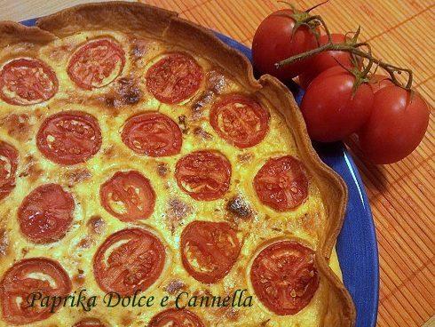 Torta Salata con Tonno e Pomodorini