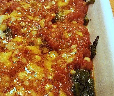 Spinaci al Forno con Pomodoro e Fontina