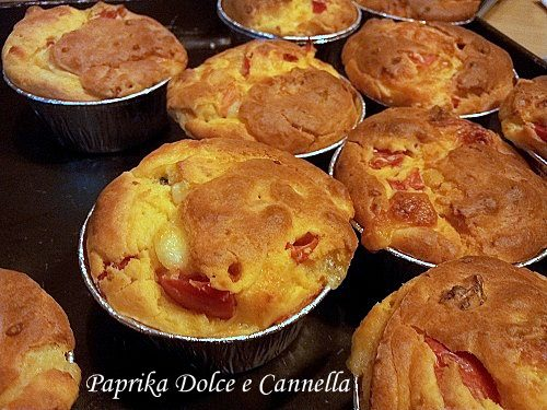 Muffin Salati con  Pomodorini e Provola
