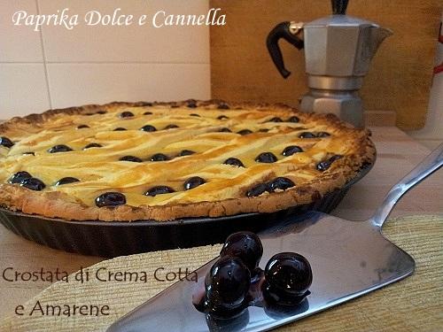 Crostata con Crema Cotta e Amarene