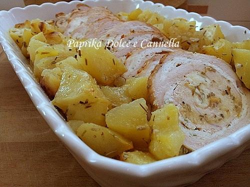 rotolo di tacchino al forno con patate | paprika dolce e cannella - Come Cucinare Il Rollè Di Tacchino