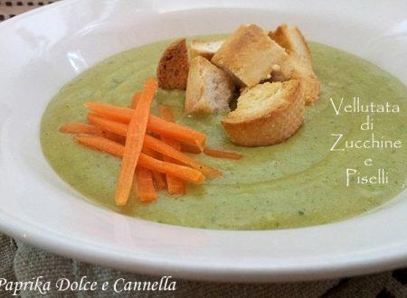 Vellutata di Zucchine e Piselli (ricetta light)