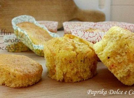 Muffin alle Carote e Nocciole (con e senza glutine)