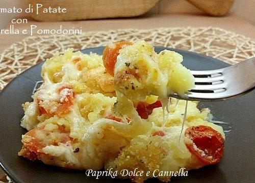 Sformato di Patate con Mozzarella e Pomodorini