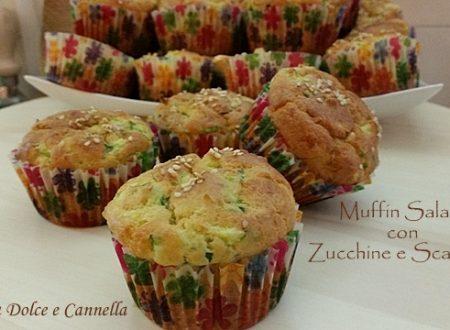 Muffin Salati con Zucchine e Scamorza (con e senza glutine)