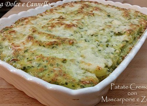 Patate Cremose con Mascarpone e Zucchine