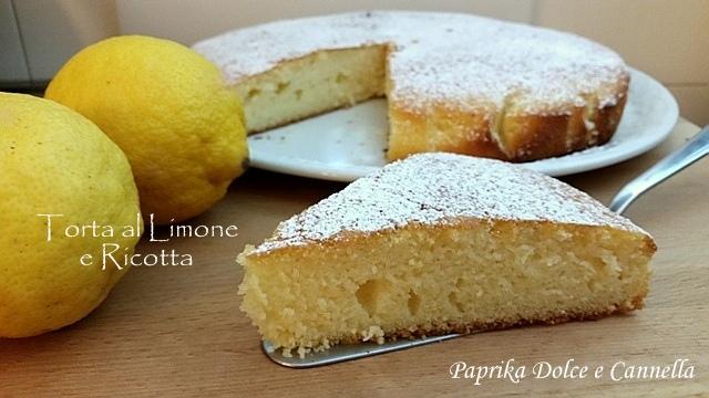 Torta Al Limone E Ricotta Paprika Dolce E Cannella