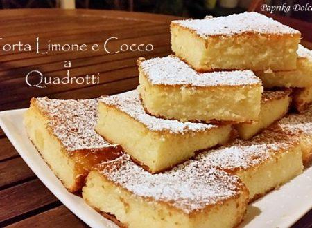 Torta Limone e Cocco a Quadrotti (anche senza glutine)