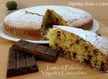 Torta di Polenta con Yogurt e Cioccolato