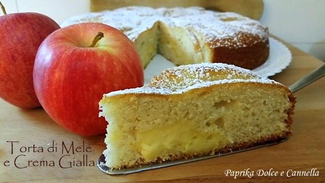 Torta di Mele e Crema Gialla (anche senza glutine)